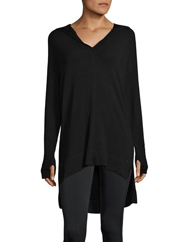 Marc New York Performance Hi-Lo Hooded Tunic-BLACK-Large