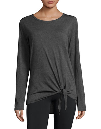 Marc New York Performance Knot Front T-Shirt-BLACK-Small