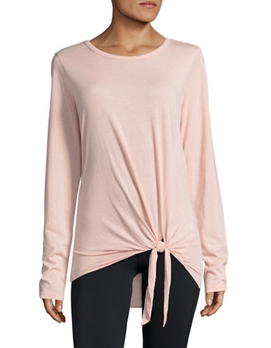 Marc New York Performance Knot Front T-Shirt-PINK-Small