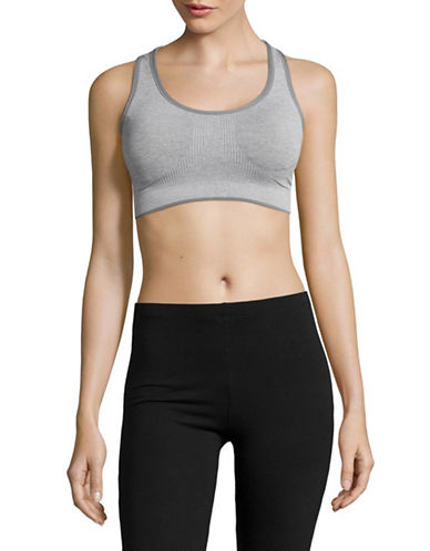 Marc New York Performance Cut-Out Sports Bra-GREY-Large