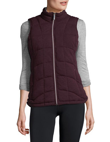 Marc New York Performance Knit Puffer Vest-RED-X-Large