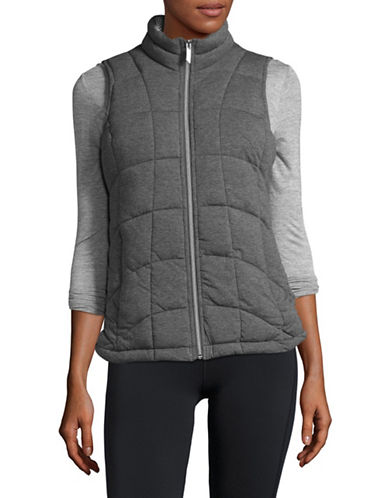 Marc New York Performance Knit Puffer Vest-GREY-X-Small
