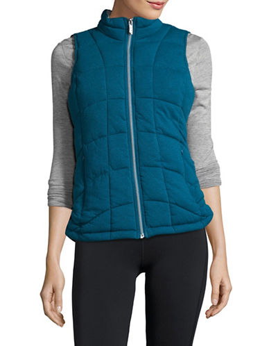 Marc New York Performance Knit Puffer Vest-TEAL-Medium