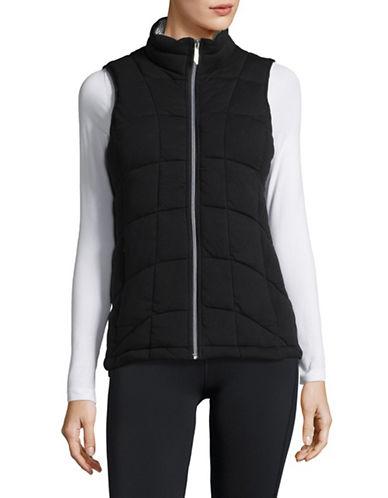 Marc New York Performance Knit Puffer Vest-BLACK-X-Small