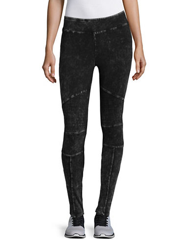 Marc New York Performance Moto Stitch Leggings-BLACK-Medium