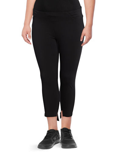 Marc New York Plus Step Cuff Leggings-BLACK-2X