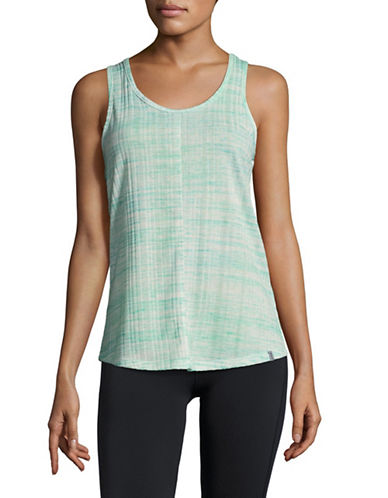 Marc New York Performance Space Dye Crisscross Strap Tank-BLUE-Medium