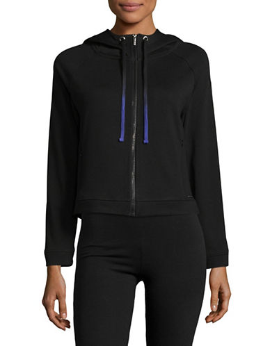 Marc New York Performance Zip Front Hoodie-BLACK-X-Small