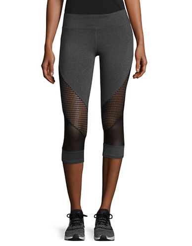 Marc New York Performance Active Crop Mixed Media Leggings-GREY-Medium 89299055_GREY_Medium
