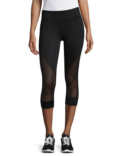 Marc New York Performance Active Crop Mixed Media Leggings-BLACK-Medium 89299032_BLACK_Medium