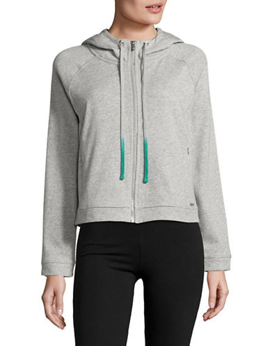 Marc New York Performance Zip Front Hoodie-LIGHT GREY HEATHER-X-Large