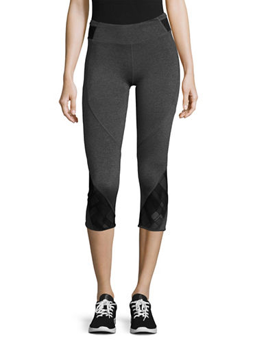 Marc New York Performance Cropped Active Leggings-SWEATS HEATHER/BLACK-X-Large