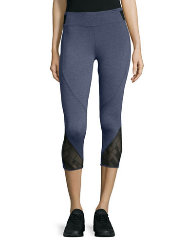 Marc New York Performance Cropped Active Leggings-MIDNIGHT HEATHER-Small