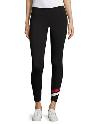 Marc New York Performance Mixed Media Leggings-BLACK/PATRIOT-X-Large 89236114_BLACK/PATRIOT_X-Large