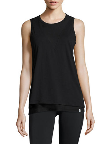 Marc New York Performance Mesh Twofer Tank-BLACK-Medium