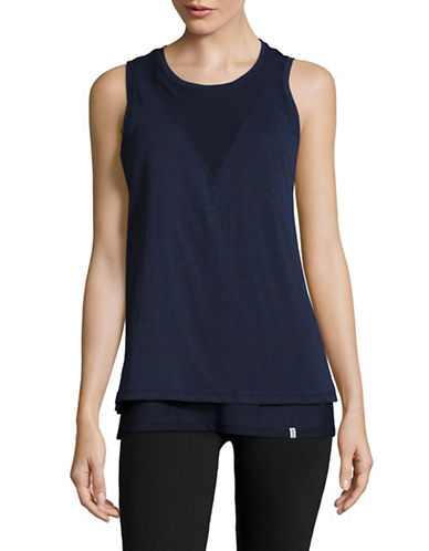 Marc New York Performance Mesh Twofer Tank-MIDNIGHT-X-Large