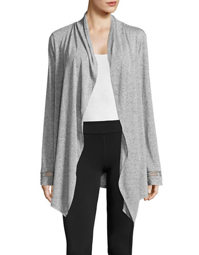 Marc New York Performance Jacquard Drape Front Cardigan-GREY HEATHER-Small 89158736_GREY HEATHER_Small