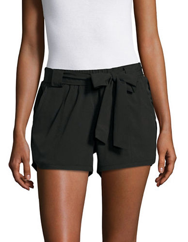 Marc New York Performance Tie-Front Active Shorts-BLACK-X-Small 89158705_BLACK_X-Small
