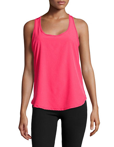 Marc New York Performance Active Mesh Back Floral Tank-GERANIUM-X-Large