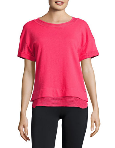 Marc New York Performance Mesh-Trim Boxy Tee-GERANIUM-Large 89158733_GERANIUM_Large