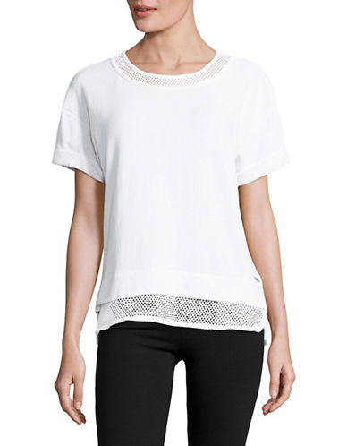 Marc New York Performance Mesh-Trim Boxy Tee-WHITE-X-Small 89158724_WHITE_X-Small