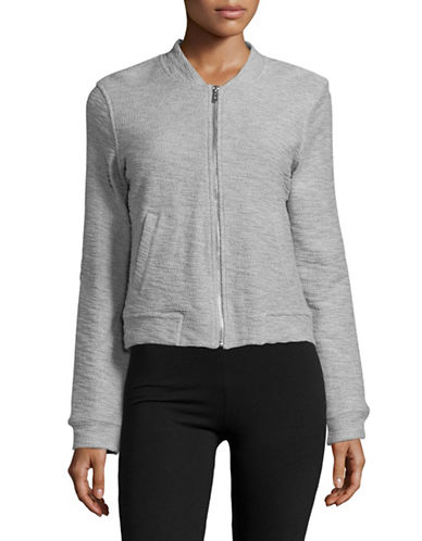 Marc New York Performance Boucle Bomber Jacket-LIGHT GREY HEATHER-X-Small 89103516_LIGHT GREY HEATHER_X-Small