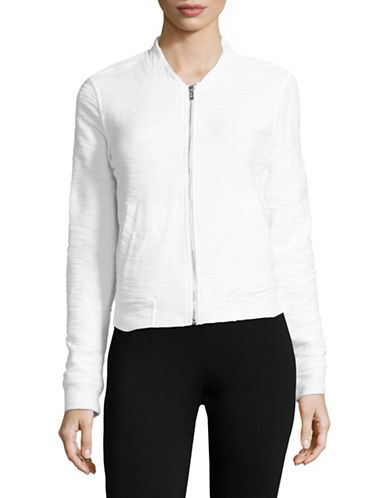 Marc New York Performance Boucle Bomber Jacket-WHITE-X-Large 89103515_WHITE_X-Large