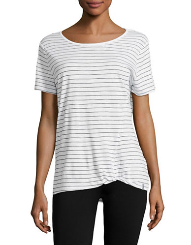 Marc New York Performance Short Sleeve Stripe Twisted Knot T-Shirt-WHITE/NAVY-Small 89158683_WHITE/NAVY_Small
