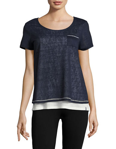 Marc New York Performance Patch Pocket Twofer T-Shirt-NAVY WHITE-X-Large 89020129_NAVY WHITE_X-Large