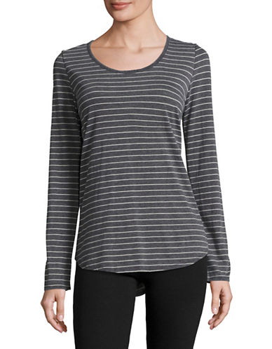 Marc New York Performance Striped Long-Sleeved Top-SMOKE WHITE HEATHER-Large 89020087_SMOKE WHITE HEATHER_Large