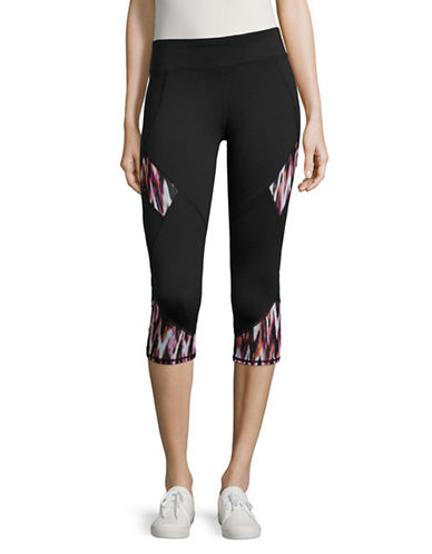 Marc New York Performance Print Sporty Leggings-BLACK ATOMIC PINK-Medium 89020045_BLACK ATOMIC PINK_Medium
