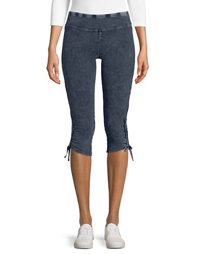 Marc New York Performance Cinched Hem Denim Capri Leggings 90017054