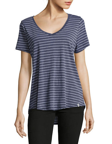 Marc New York Performance Striped V-Neck T-Shirt-NAVY WHITE-Large 89020062_NAVY WHITE_Large
