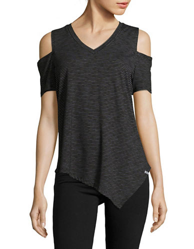 Marc New York Performance Cold-Shoulder Tee-BLACK-X-Large 89020103_BLACK_X-Large