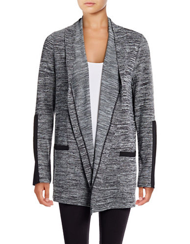 Marc New York Performance Space Dye Combo Flyaway Cardigan-BLACK-X-Small 88920387_BLACK_X-Small
