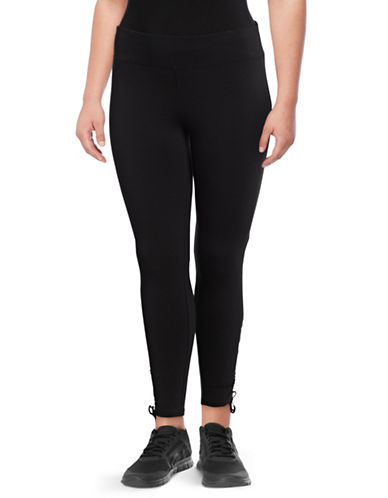 Marc New York Plus Cinched Bottom Legging-BLACK-2X
