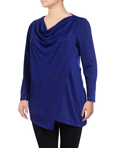Marc New York Plus Cowl Neck Pullover Sweater-BLUE-1X 89532218_BLUE_1X