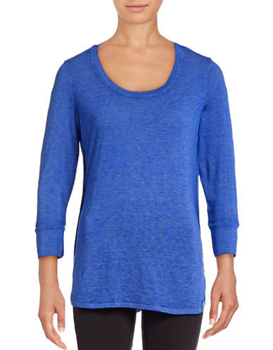 Marc New York Performance Three-Quarter Sleeve T-Shirt-CERULEAN-Small 88887594_CERULEAN_Small