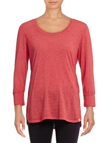 Marc New York Performance Three-Quarter Sleeve T-Shirt-RUBY-Medium 88887600_RUBY_Medium
