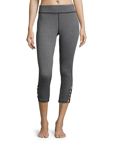 Marc New York Performance Patterned Athletic Leggings-BLACK-Medium 88887560_BLACK_Medium