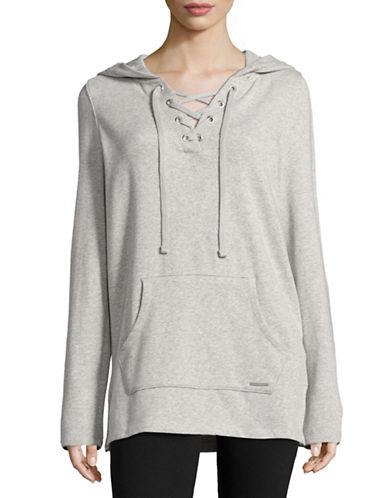 Marc New York Performance Lace-Up Roll-Sleeve Hoodie-LIGHT GREY HEATHER-X-Small 88887608_LIGHT GREY HEATHER_X-Small