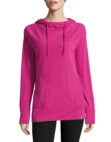 Marc New York Performance Striped Hoodie-FUSCIA/WHITE-Large 88920385_FUSCIA/WHITE_Large