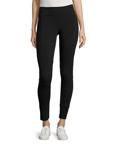 Marc New York Performance Ribbed Insert Leggings-BLACK-Medium