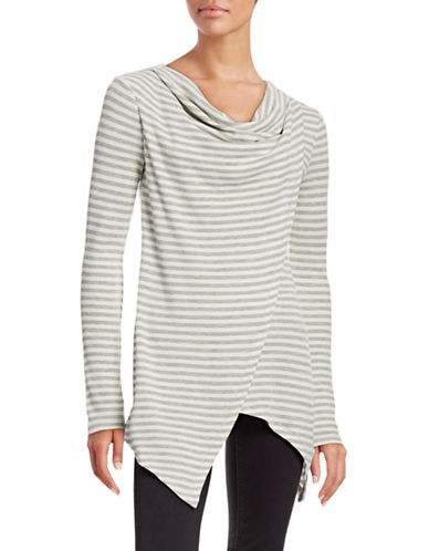 Marc New York Performance Striped Cowl Neck Thermal Top-NATURAL-Small 88585429_NATURAL_Small