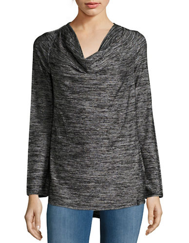 Marc New York Performance Knit Cowl Neck Top-BLACK-Medium 88752031_BLACK_Medium