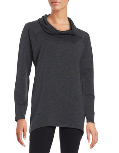 Marc New York Performance Knit Cowl Neck Performance Tunic-CHARCOAL HEATHER-Large 88860263_CHARCOAL HEATHER_Large