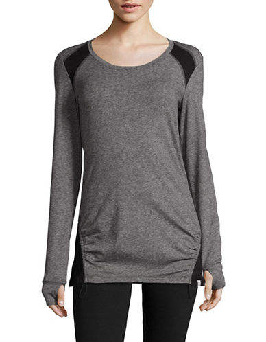 Marc New York Performance Gathered Hem Sport Tee-LIGHT GREY HEATHER-Large 88752049_LIGHT GREY HEATHER_Large