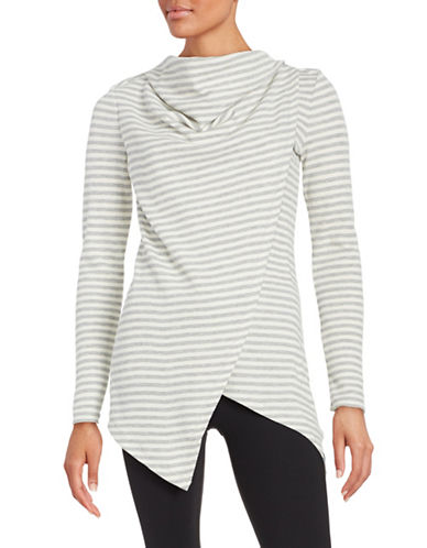 Marc New York Performance Striped Cowl Neck Top-IVORY/GREY-Small 88860253_IVORY/GREY_Small