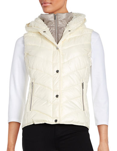 Marc New York Performance Sherpa-Lined Hooded Performance Puffer Vest-IVORY/PLATINUM-Large 88860301_IVORY/PLATINUM_Large