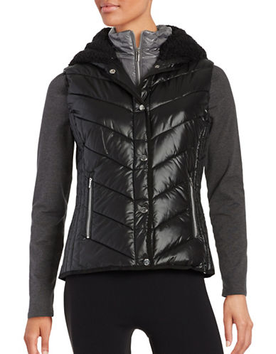 Marc New York Performance Sherpa-Lined Hooded Performance Puffer Vest-BLACK OVERCAST-X-Large 88752063_BLACK OVERCAST_X-Large